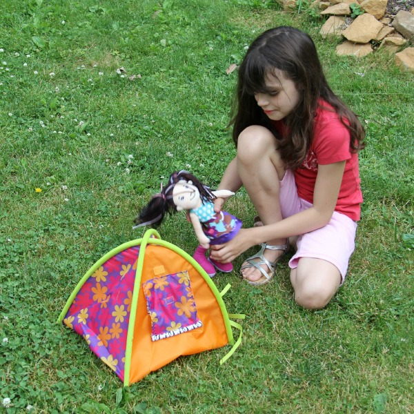 Serenity playing with Groovy Girl Doll and Tent