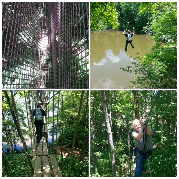 Ziplining at Go Apes- 2
