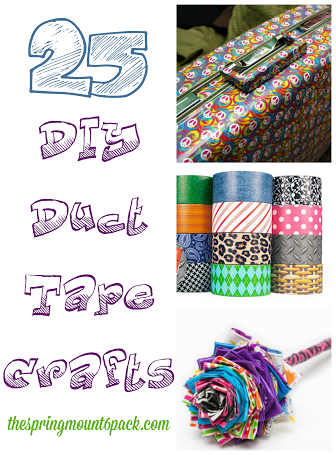 Need a fun summer project? Love duct tape crafts? Check out these 25 free duct tape crafts