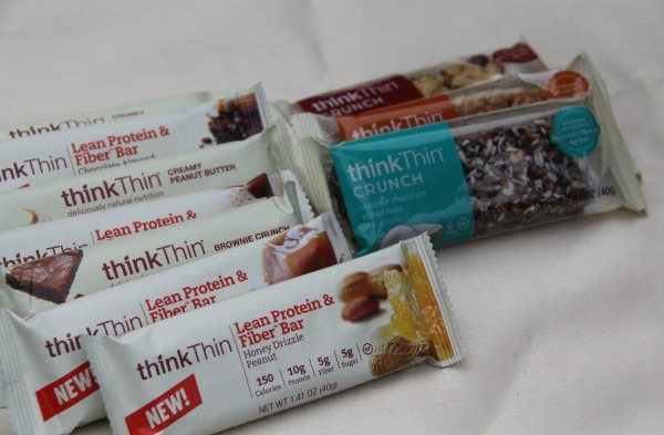think Thin bars Heathy nutrition while on the run