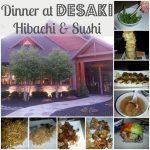 Dinner at Desaki in the Poconos: Hibachi and Sushi