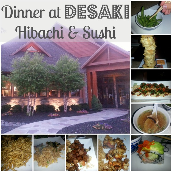 Dinner at Desaki in the Poconos Hibachi and Sushi