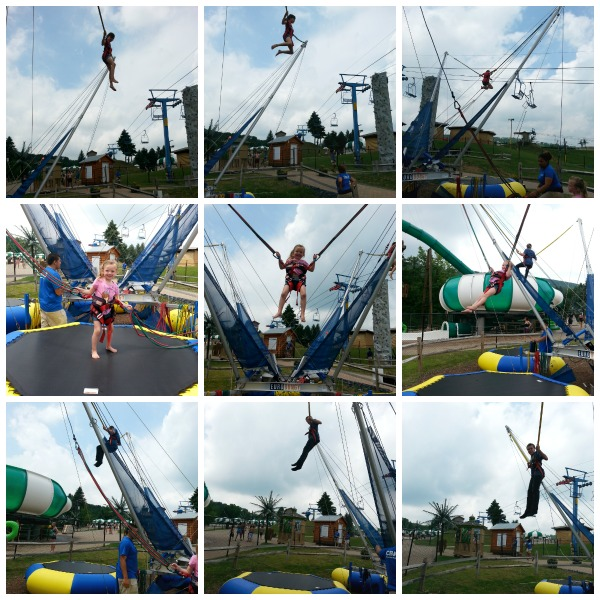 Making Memories at CamelBeach water park- Playing on the Euro Bungee
