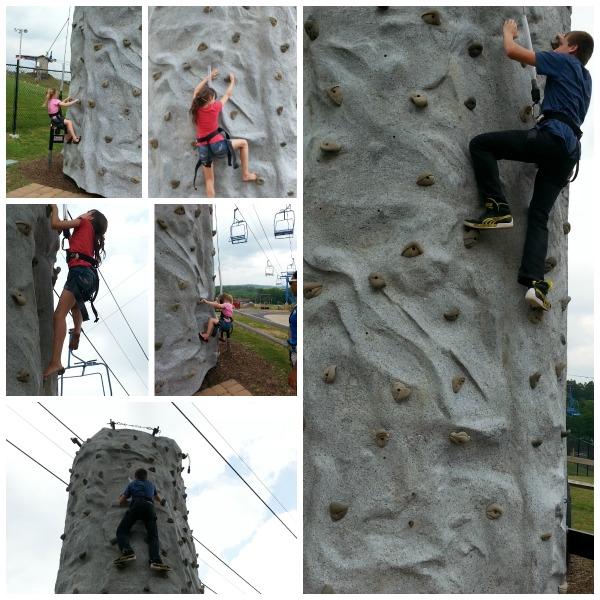 Making Memories at CamelBeach water park- Rock Climbong wall