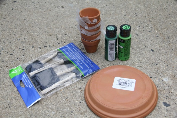 Supplies to make a terra cotta turtle, making a decoration for the garden