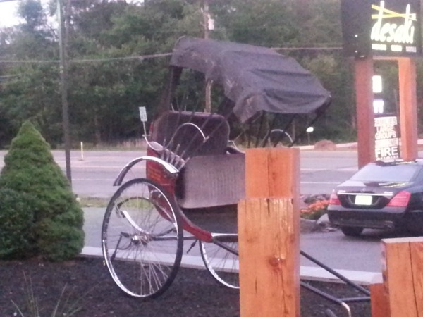 Want to ride in a Rickshaw Dinner at Desaki in the Poconos Hibachi and Sushi