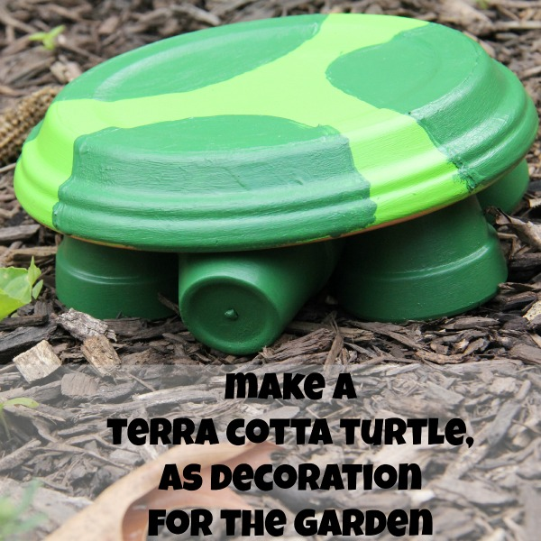 make a terra cotta turtle, making a decoration for the garden