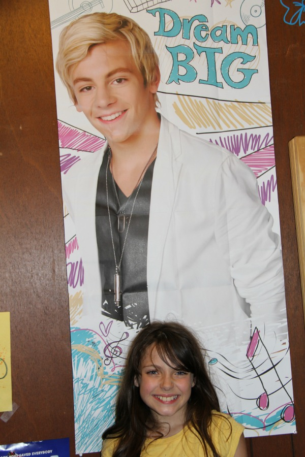 Celebrating with my girl in a BIG way Cards for Kid- Posing with her poster