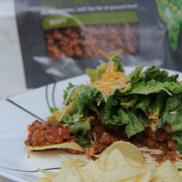 Macko Taco Salad Recipe using Beyond Meat Crumbles