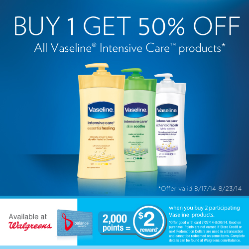 Walgreens Deals on Vaseline Intensive Care products (1)