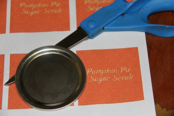 Pumpkin Pie Sugar Scrub label sheet