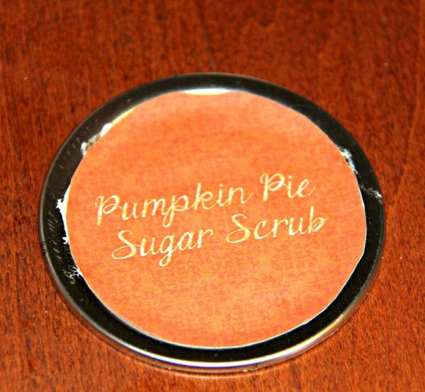 The lid for pupkin ie sugar scrub