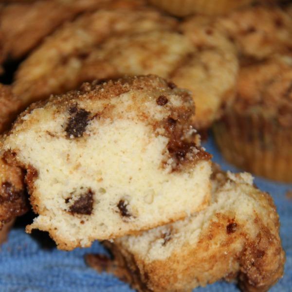 Coffee Cake Muffins Using Cake Mix