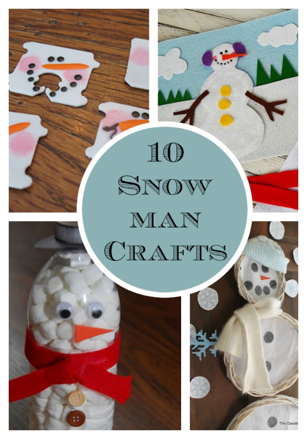 Looking for craft ideas for a snow day? I love these 10 snowman crafts. They are easy and quick and kids will love these crafts snowman crafts for kids.