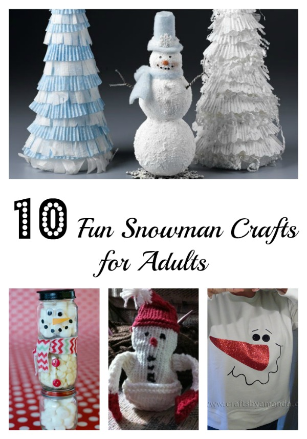 10 Fun Snowman crafts for adults