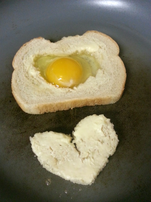 egg in the whole- Valentine edition- cooking