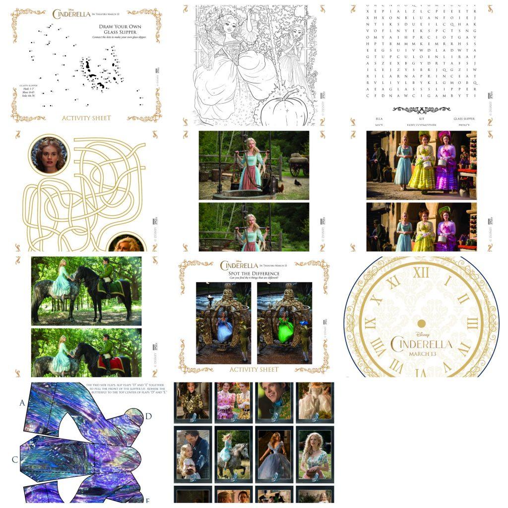 Cinderella activity sheets, Cinderella Color pages