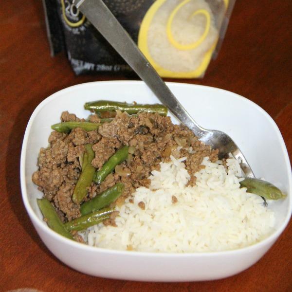 Hamburger Rice Bowl Stir- finished