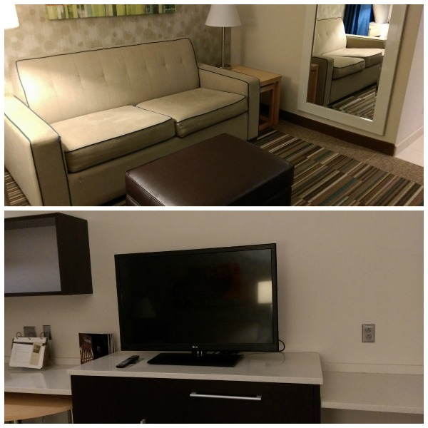 Home2Suites- family friendly hotel in Philadelphia-- Living room