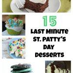 Last Minute St. Patrick's Day Desserts