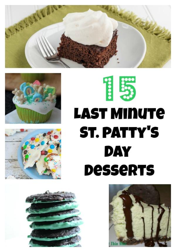 15 Last Minute St. patrick's Day desserts