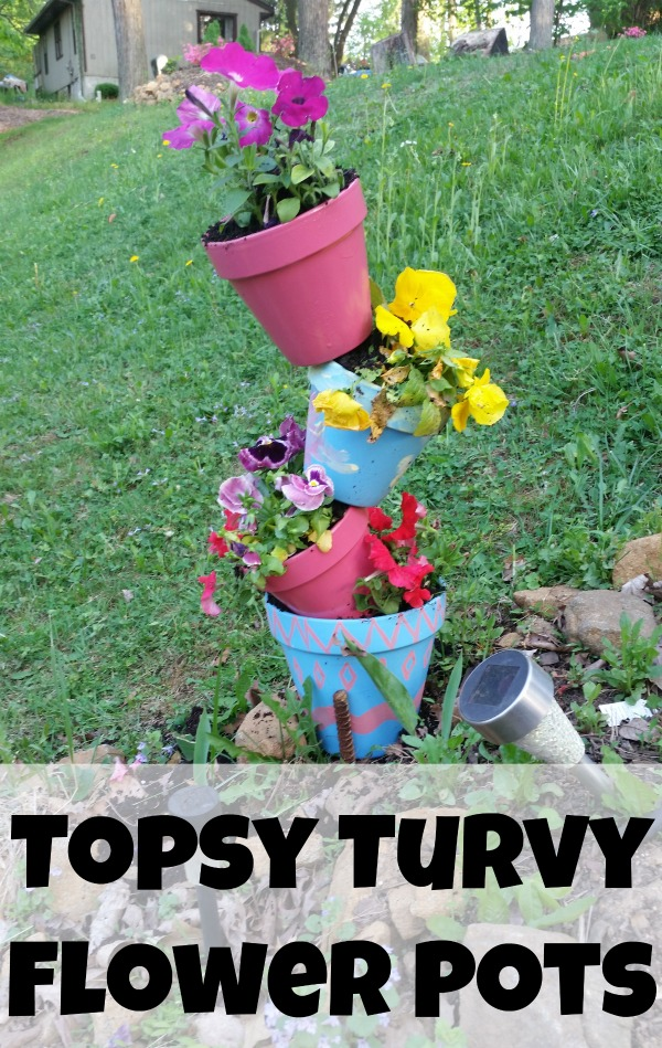 Topsy turvy flower pot crafts garden crafts