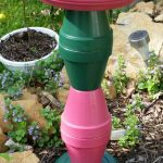 Make  A Garden Bird Bath- Flower Pot Crafts
