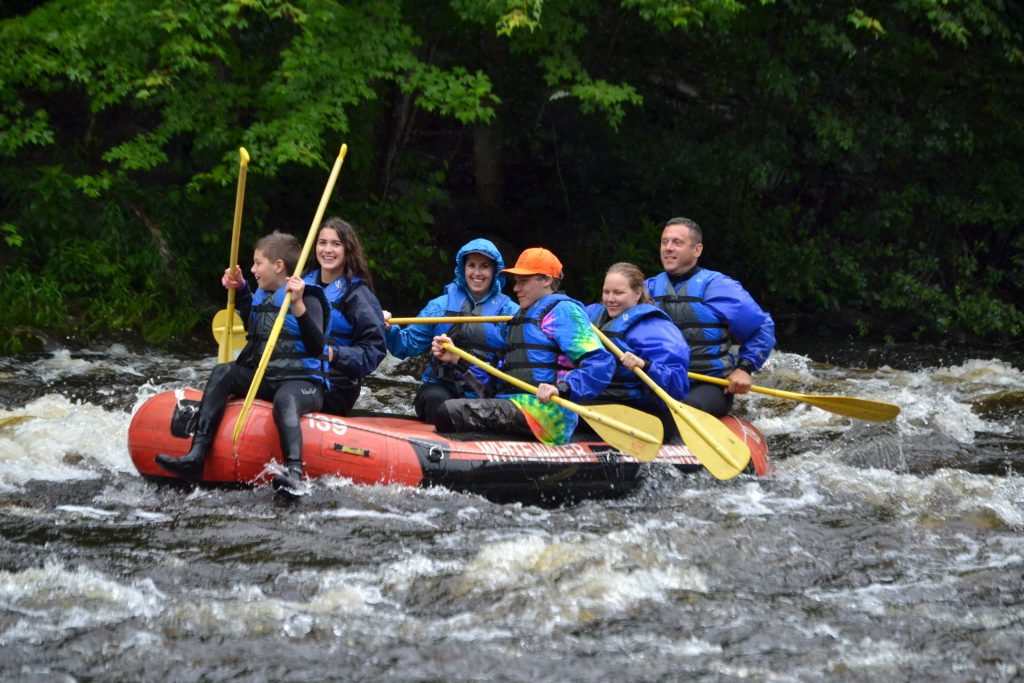 Whitewater Challengers Media Day Rafting 2