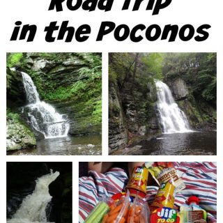 Take a last minute road trip to the Poconos. There are lots of things to do in the Poconos, including Bushkill Falls.