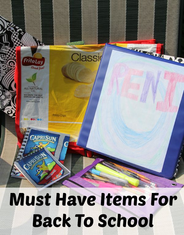 Must Have Items For Back To School