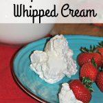 Maple Vanilla Whipped Cream