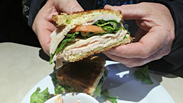 turkey sandwich at Zoës Kitchen