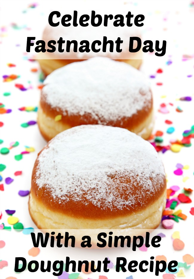 Whether you call it Fastnacht Day, Fat Tuesday, or Mardi Gras, this is a perfect simple doughnut recipe to make in celebration
