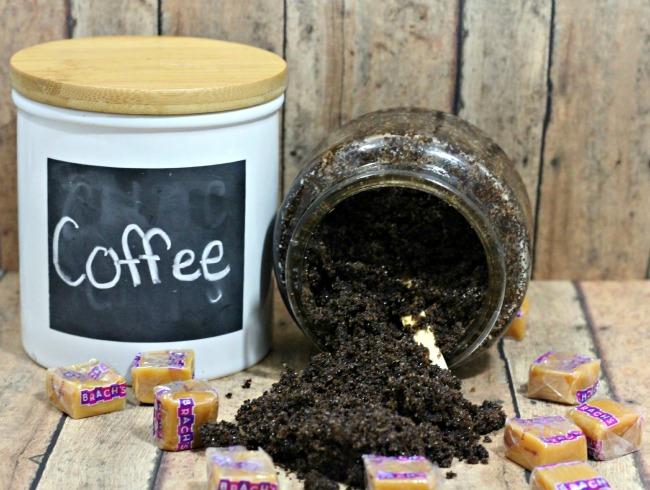 Salted caramel mocha latte bath scrub