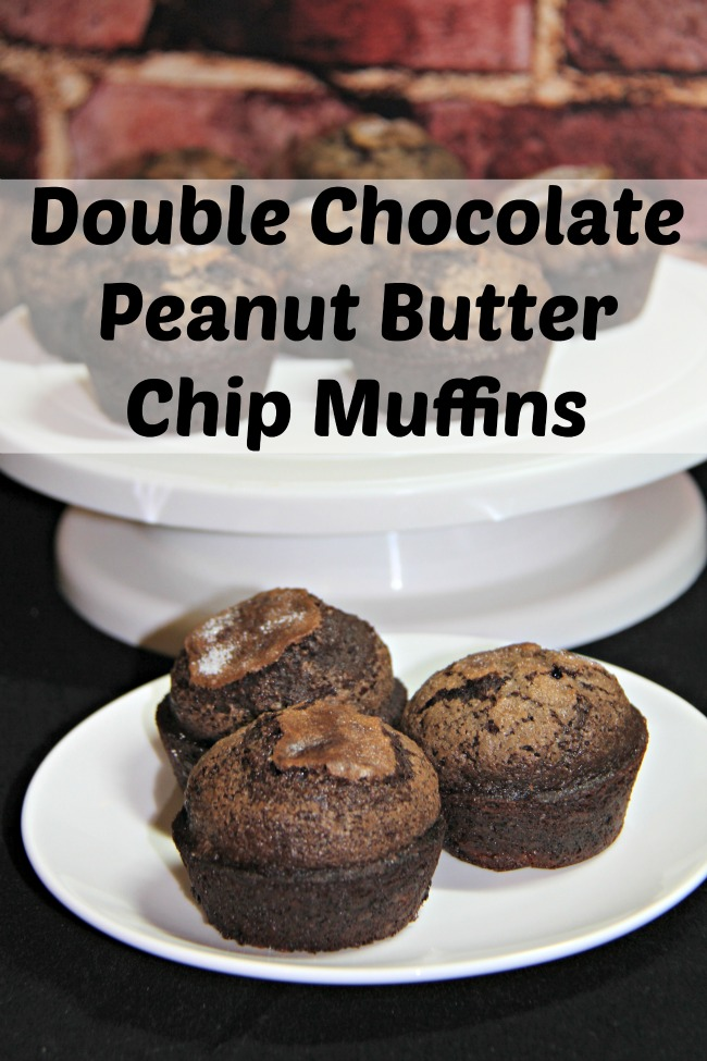 Double Chocolate Peanut Butter Chip Muffin Recipe - Or in other words Muffin heaven