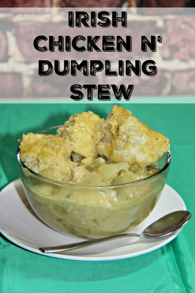 Irish Chicken and Dumplings Stew, the perfect comfort food recipe, Irish stew