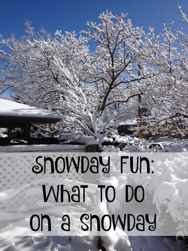 """With Winter comes snow days and it can leave parents saying """"Oh no! What am I going to do to keep the kids happy all day"""" Use these snow day ideas to keep kids happy all day."""
