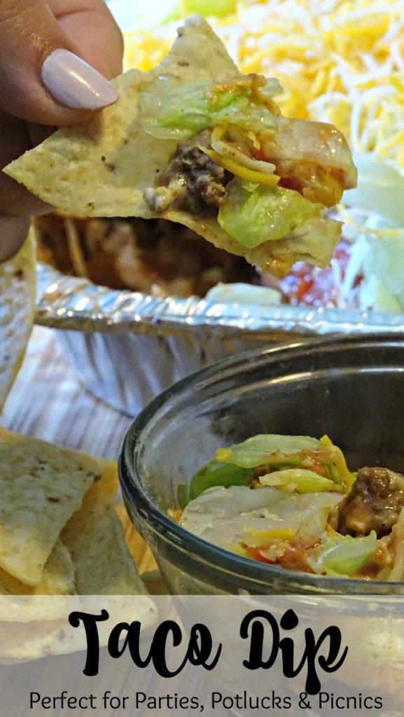 Taco dip recipe, Perfect for Parties, Potlucks and Picnics