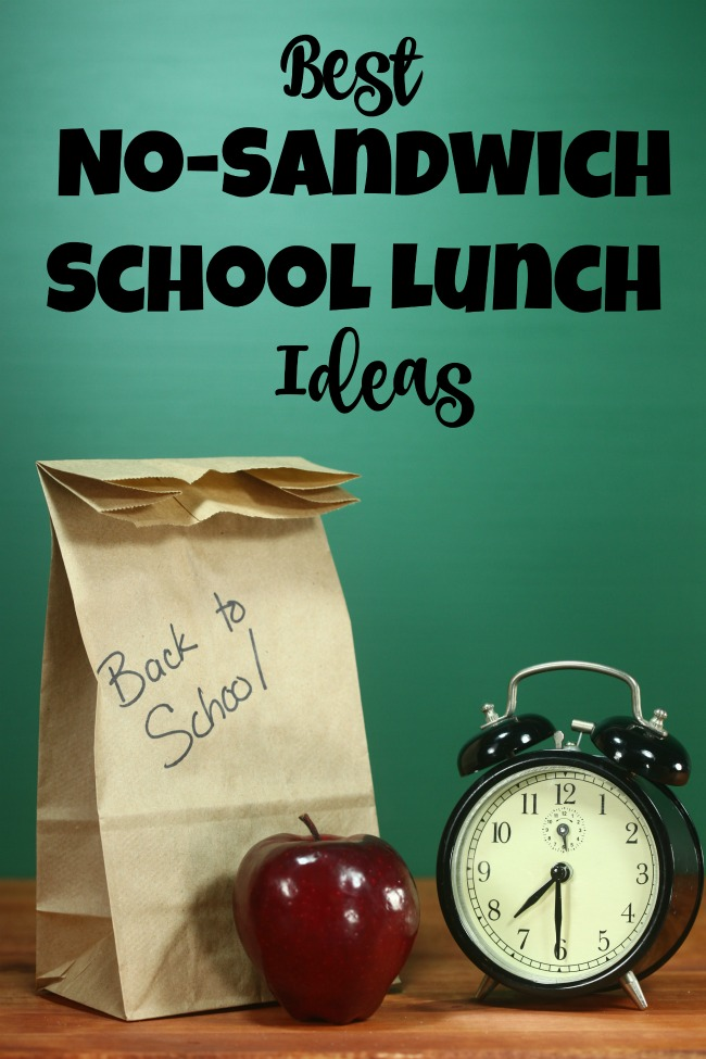 Looking for school lunch ideas? Want something more than sandwich ideas? Get these Best No Sandwich School Lunch Ideas. #backtoschool #lunch #lunchideas
