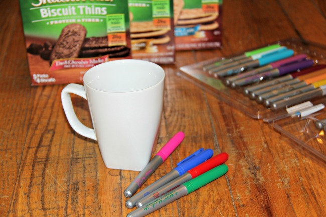 Create your own personalized mug, supplies