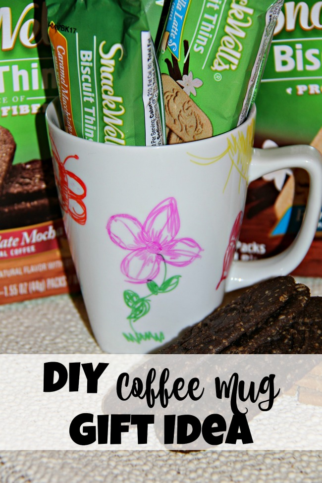 DIY Coffee Mug Gift Idea, Sharpie on a coffee mug