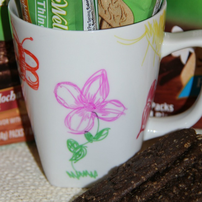 DIY sharpie coffee cup gift idea