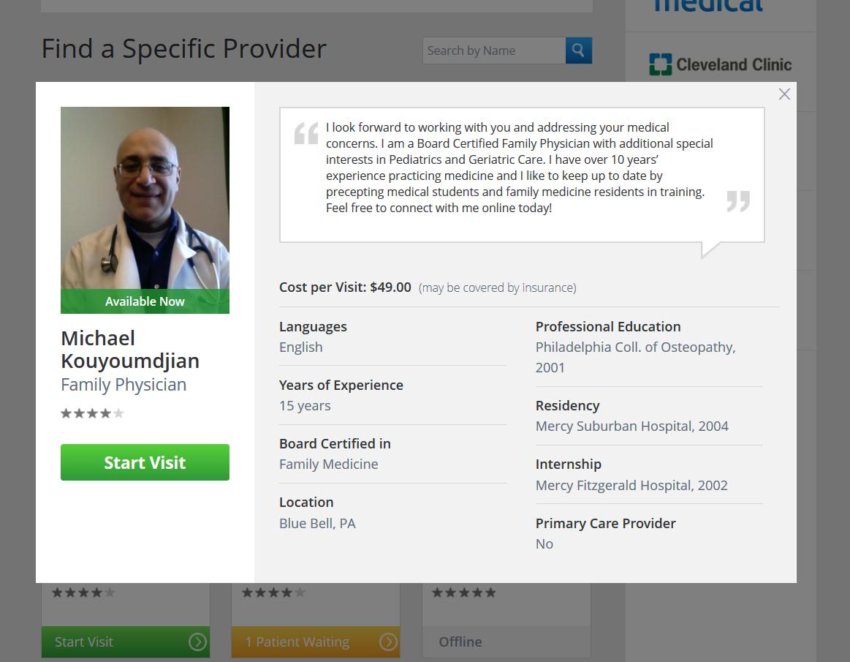 Doctor credentials