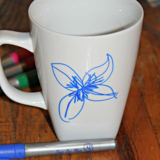 Sharpie mug, easy DIY personalized coffee mug gift idea