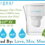 Aquagear Filter Pitcher Giveaway!