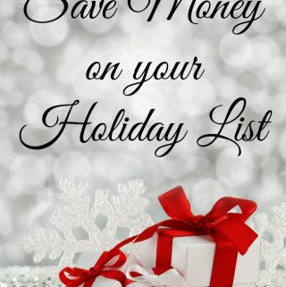How to save money on Christmas Presents, Save Money on your Holiday List