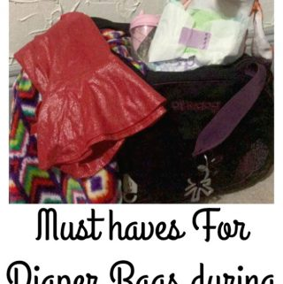 Must haves For Diaper Bags during Holiday Time