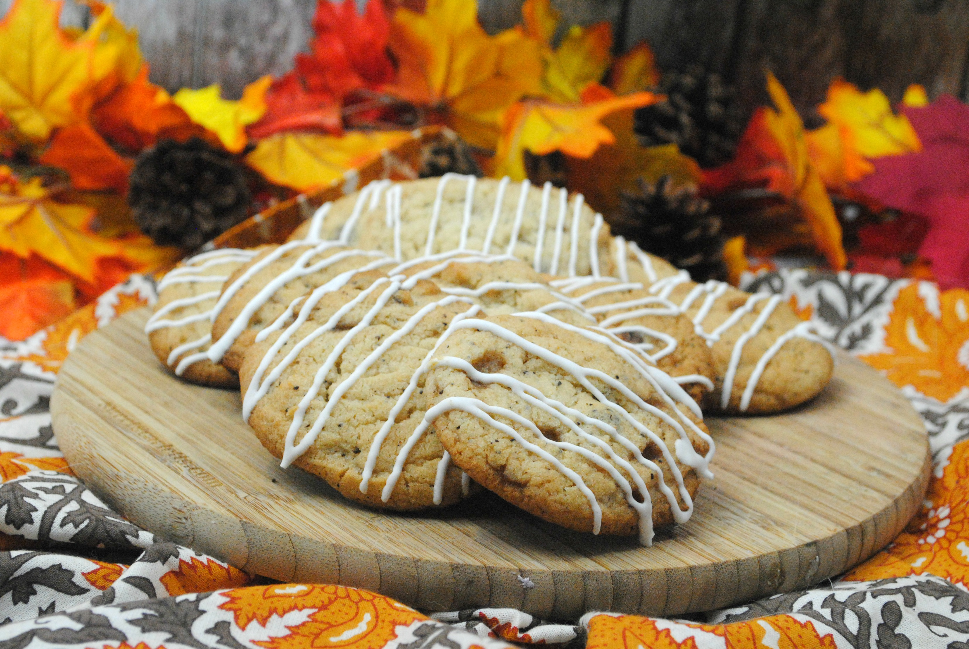 These pumpkin spice cookies have a nice twist. It taste like a latte in a cookie. YUM! If you like pumpkin spice coffee, you are going to love these pumpkin spice latte cookies.