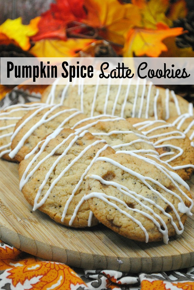 These pumpkin spice cookies have a nice twist. It taste like a latte in a cookie. YUM! If you like pumpkin spice coffee, you are going to love these pumpkin spice latte cookie recipe.