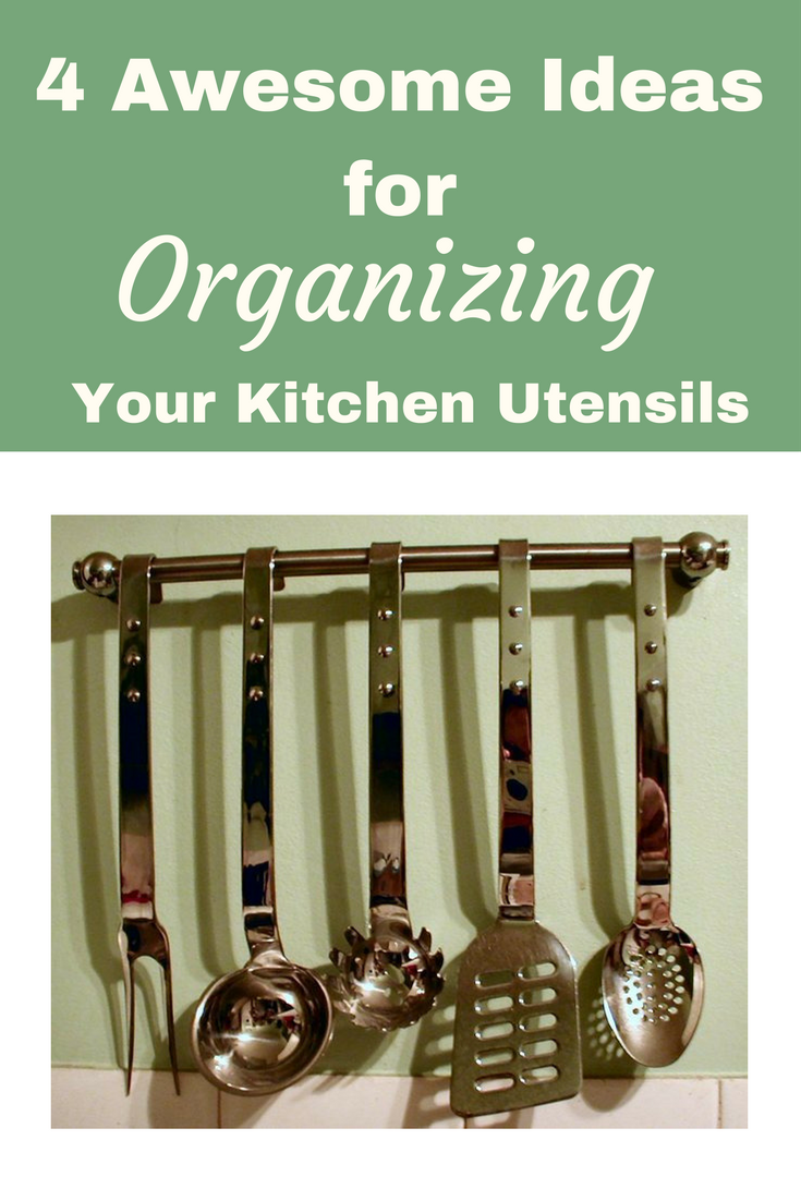 4 Awesome Ideas for Organzing Kitchen Utensils: Easy ... on design your apartment kitchen, organizing a small apartment kitchen, organize your kitchen, organized kitchen, organizing bottom cabinets kitchen, organizing the kitchen, ideas for menu planning, food storage in tiny kitchen,